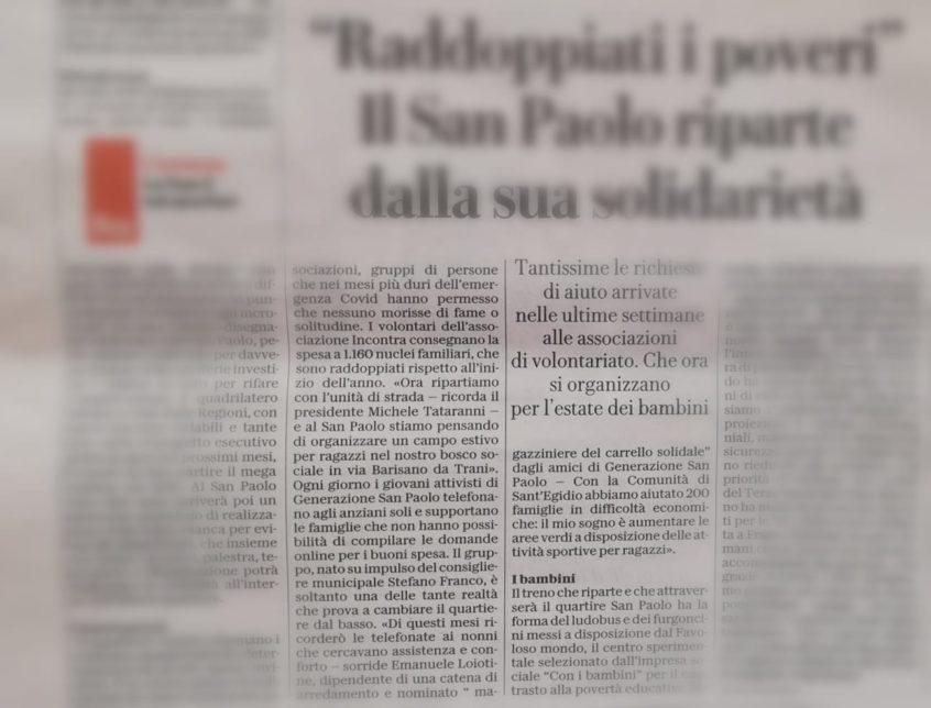 Articolo Pubblicato su Repubblica